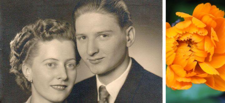 -Mama und Papa bei ihrer Hochzeit