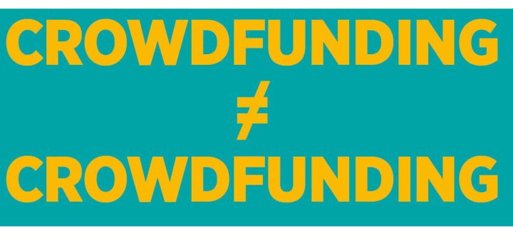 -Crowdfunding ist nicht Crowdfunding
